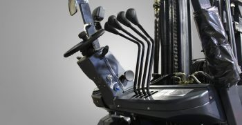 ergonomic forklift levers