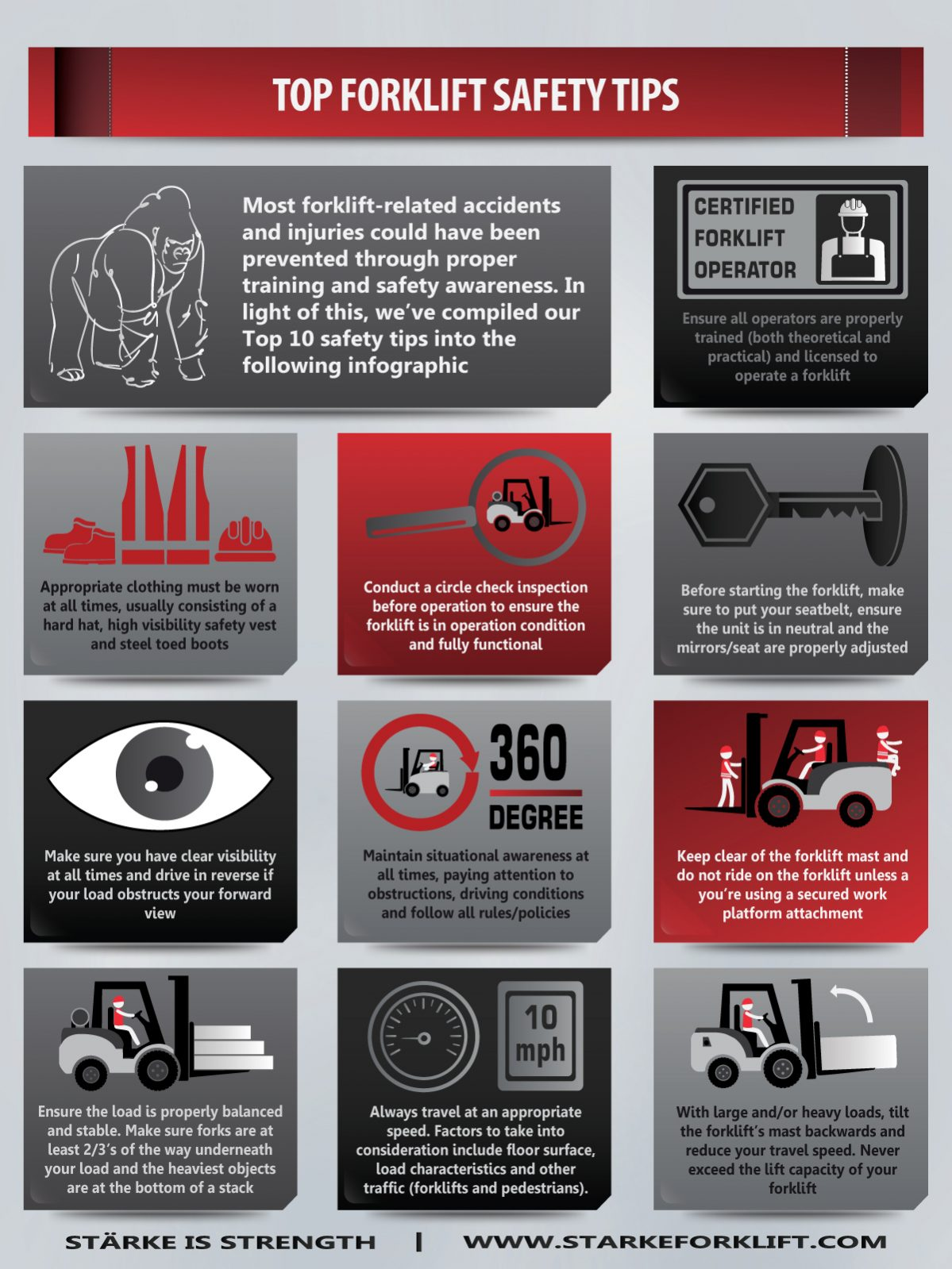 forklift safety tips infographic
